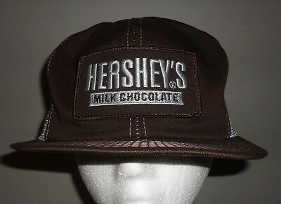 Vintage HERSHEY'S MILK CHOCOLATE Mesh Snapback Trucker Hat K PRODUCTS BRAND