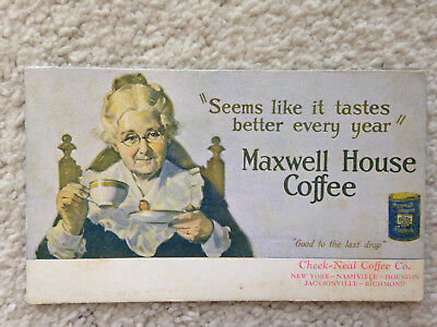 Vintage Cheek Neal/Maxwell House Ink Blotter Good+ Condition 5 Factories