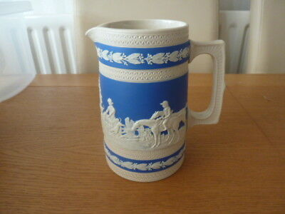 C19TH COPELAND Late Spode Blue & White Hunting Scene Jug 1890'2