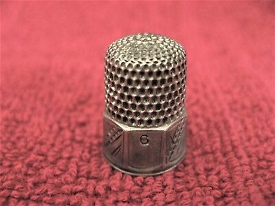 Vintage 1900's Simons Brothers Size 6 Thimble S with Shield