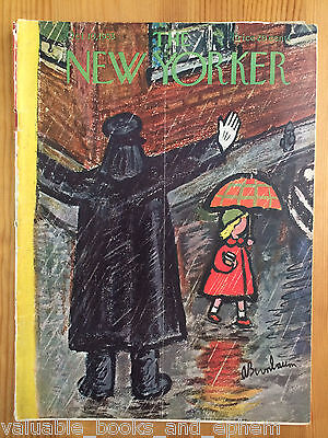 New Yorker Magazine 1953 Oct 10 Vintage Mid-Century Advertising Travel Airlines