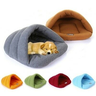Pet Cat Dog House Kennel Puppy Cave Sleeping Bed Soft Mat Pad Warm Nest Supplies