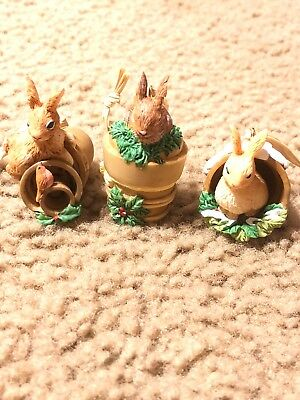 Hallmark Marjolein Bastin Nature's Sketchbook Set of 3 Bunny Ornaments