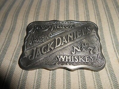 Jack Daniels Belt Buckle Rich Mellow Hand Made Old No. 7 Whiskey NICE!