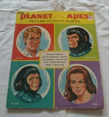 Vintage Planet of the Apes Activity and Coloring Book Unused