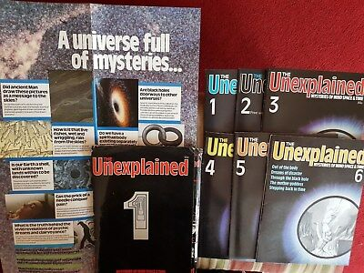 The Unexplained 1980 Original First 6 Volumes And Promo Poster