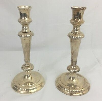 Pair Silverplate Candlestick Holders