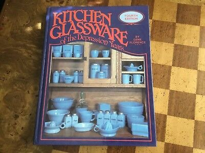 KITCHEN GLASSWARE Of The DEPRESSION Years Guide Reference Book Gene Florence