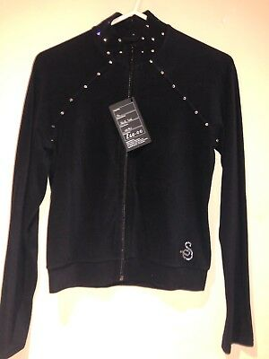 Sagester Jacket Black With Crystals In Nero (black)