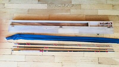 Vintage NFT Bamboo Fly Fishing Rod  9' With Case And Extra Tip