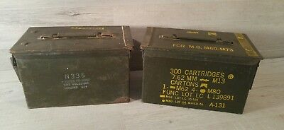 Deux Caisses Boite Metal A Munitions Militaires Army Ammo Box Geocaching