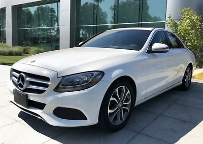 C-Class C 300 Sedan 4D Polar White Mercedes-Benz C-Class with 25,660 Miles available now!