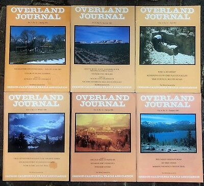 OVERLAND JOURNAL, 6 issues, 1985, 1986, Oregon Trail, emmigrants