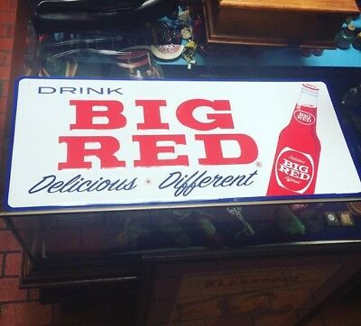 Big Red Soda Advertisment Sign NOS
