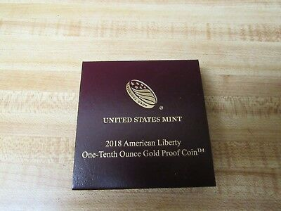 2018-W $10 American Liberty One-Tenth Ounce Gold Proof Coin (OGP+COA)