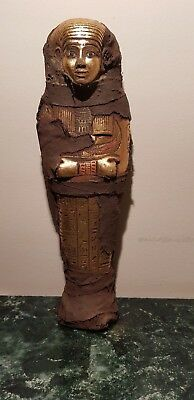 Rare Antique Ancient Egyptian Ushabti Servant God Isis Water Gold 1850-1760BC