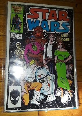 "1986 Star Wars #107 (VF/NM) 1ST SERIES  FINAL ISSUE ""RARE"" MARVEL COMICS"