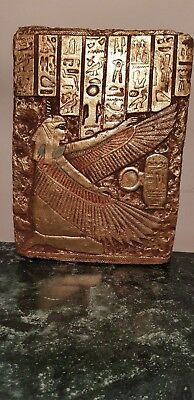 Rare Antique Ancient Egyptian stela God Isis Winged Health Wisdom 1840-1760BC