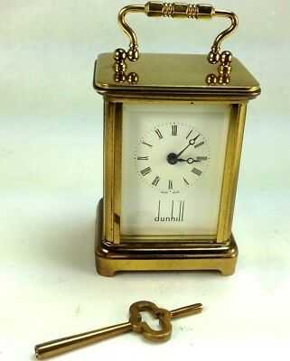 """Vintage """"Dunhill"""" Movement by Matthew Norman 8 Day Sub-Miniature Carriage Clock"""