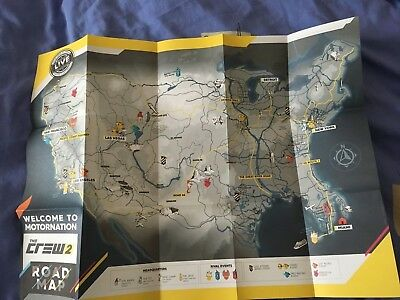 The Crew 2 - Road Map + 4 Stickers - No Game