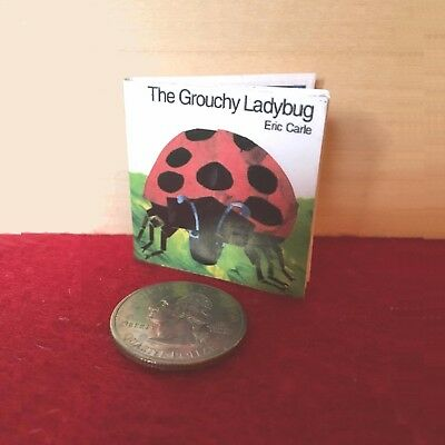 """1:6 scale Handmade miniature for 11""""-12"""" size dolls - The Grouchy Ladybug book"""