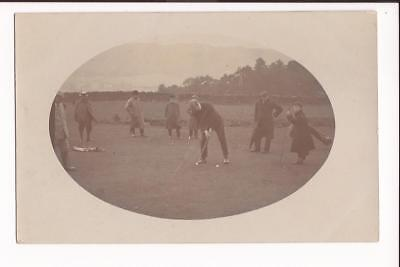Real Photo Early Postcard Golf Putting Caddy Pre-1919