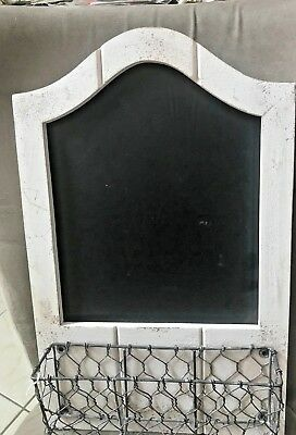 Shabby Chic Large Chalkboard, Country, French Cottage, White, Wedding Table Sign