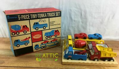 Vintage 1960s JC Penney's Catalog Exclusive Tiny Tonka 5-Piece Truck Set RARE!