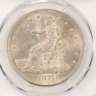 1874-S Trade $1 PCGS Certified MS62