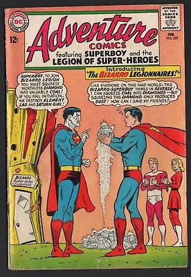 Adventure Comics #329 Dc Comics 1965 Bizarro Legion Curt Swan & Jim Mooney Art