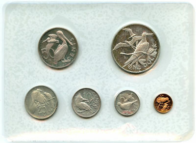 1973 British Virgin Islands 6 Coin Proof Set Sealed w/ Silver Dollar