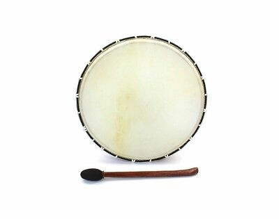 EXTRA LARGE SHAMANIC FRAME DRUM WITH BEATER NATIVE AMERICAN NORSE VIKING 48cms