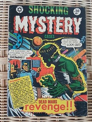 Shocking Mystery Cases Comic Book 1952 #50