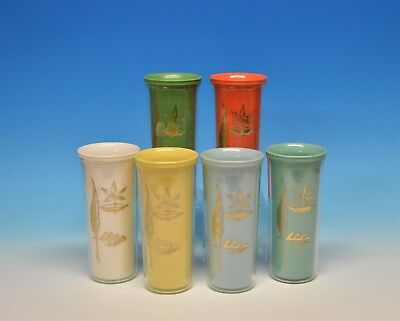 Vintage Mid Century Modern Plastic Cup Set MCM Drinking Cups Patio Kitchen Decor