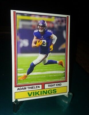 Minnesota Vikings Adam THIELEN 1974 style Custom art Card ACEO
