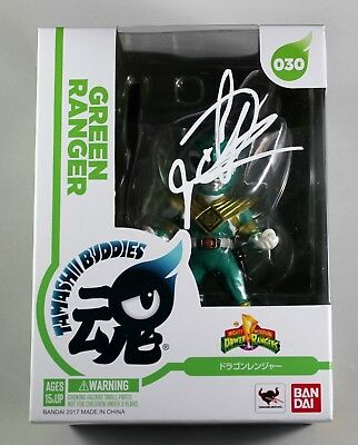 Jason David Frank Signed Green Power Rangers Bandai Tamashii Buddies Figure Coa