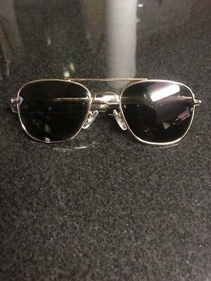 Vintage General Optical Gold frame aviator sunglasses 5 1/2. Excellent Condition
