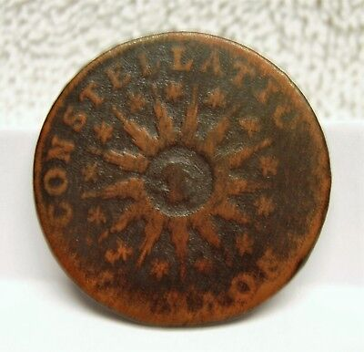 1785 Nova Constellatio Copper - Pointed Rays - Post Colonial Issue