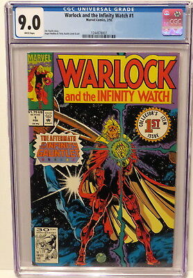 Warlock And The Infinity Watch #1 Aftermath Infinity Gauntlet 2/92 White Cgc 9.0