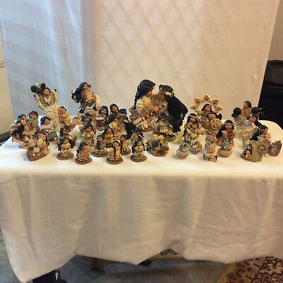 ** LOT of 36 Encino Corp Friends of the Feather Figurines ... Karen Hahn **