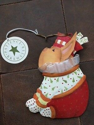 Patience Brewster Krinkles Tin French Bulldog Ornmanet - New w/Tag