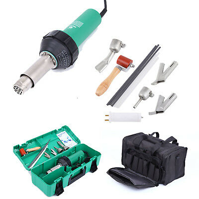 "1600W Air Torch Plastic Welding Heat Gun Torch Kit + Nozzle Roller Case 18"" Bag"