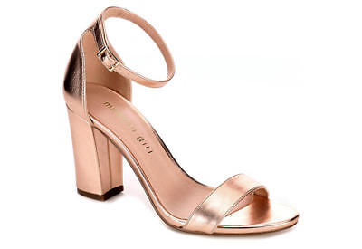 738bd6b0f MADDEN GIRL WOMEN S Beella Dress Sandal Rose Metallic Gold Pick Size ...