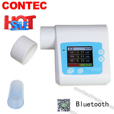 Digital Electronic Spirometer,Memory,Software FVC,FEV1,PEF,mouthpieces,CE,app