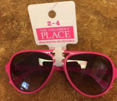 Girls Children's Place Hot Pink Sunglasses ~Fits Ages 2-4~ BRAND NEW (100% UV)