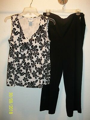 Maternity Clothes - Lot of 4 Items - 2 Tops 2 Bottoms - Size Medium and Large