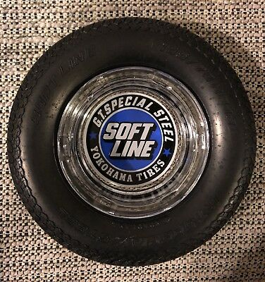 """YOKOHAMA vintage  6"""" TIRE ASHTRAY, GT Special Steel, VG+ to EXCELLENT condition"""
