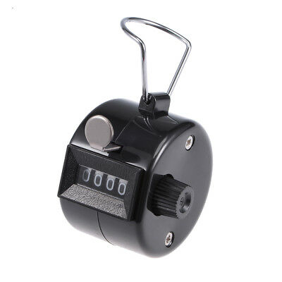 Hand Tally Counter 4 Digit Tally Counter Mechanical Palm Click Counter Black