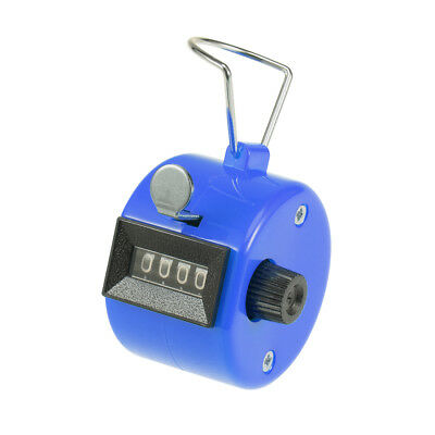 Hand Tally Counter 4 Digit Tally Counter Mechanical Palm Click Counter Blue
