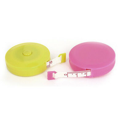 Sewing Tailor Cloth Measuring Ruler Tape Measure 150cm Yellow Pink L3H2